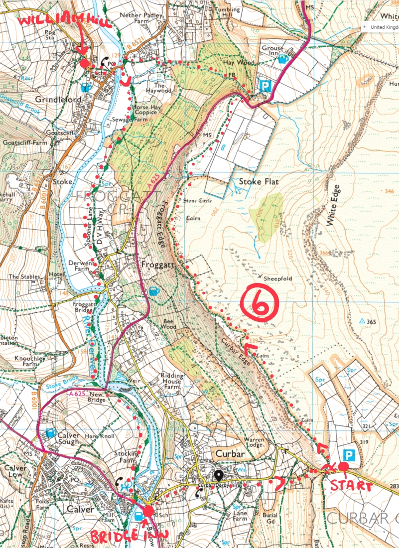 froggat edge walk map